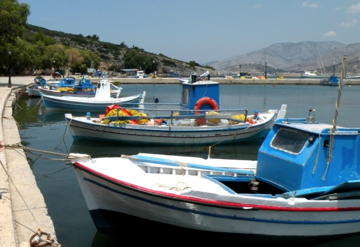 The typical Greek fishing shuttles