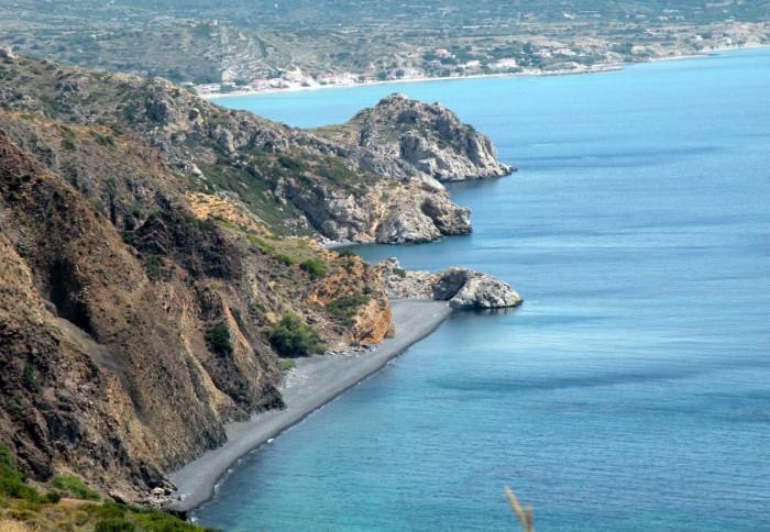 View on the beach Mavros Gyalos.