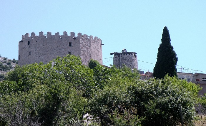 The medieval tower in the village Pitios
