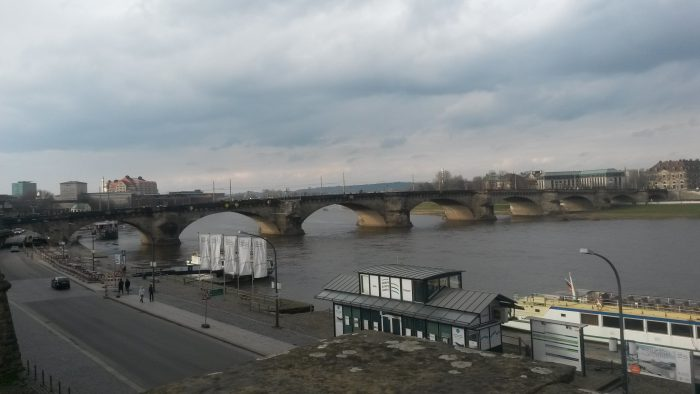 view of Elbe River in Dresden
