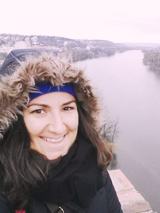 me looking at the view of Vltava River from Vyšehrad : )